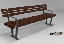 Bench Geos Linda S Plus 2000x575x795 3D