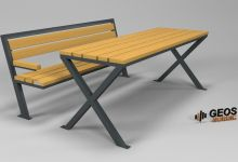 Geos Alutaguse Bench S Plus and Table 3D