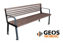 Geos City Comfort Bench with back R 2000x630x860