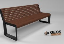 Geos Eco Future Bench S 1830x660x760 3D