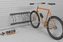 Wall Bicycle Parking Geos Standard 885x460x345 3D